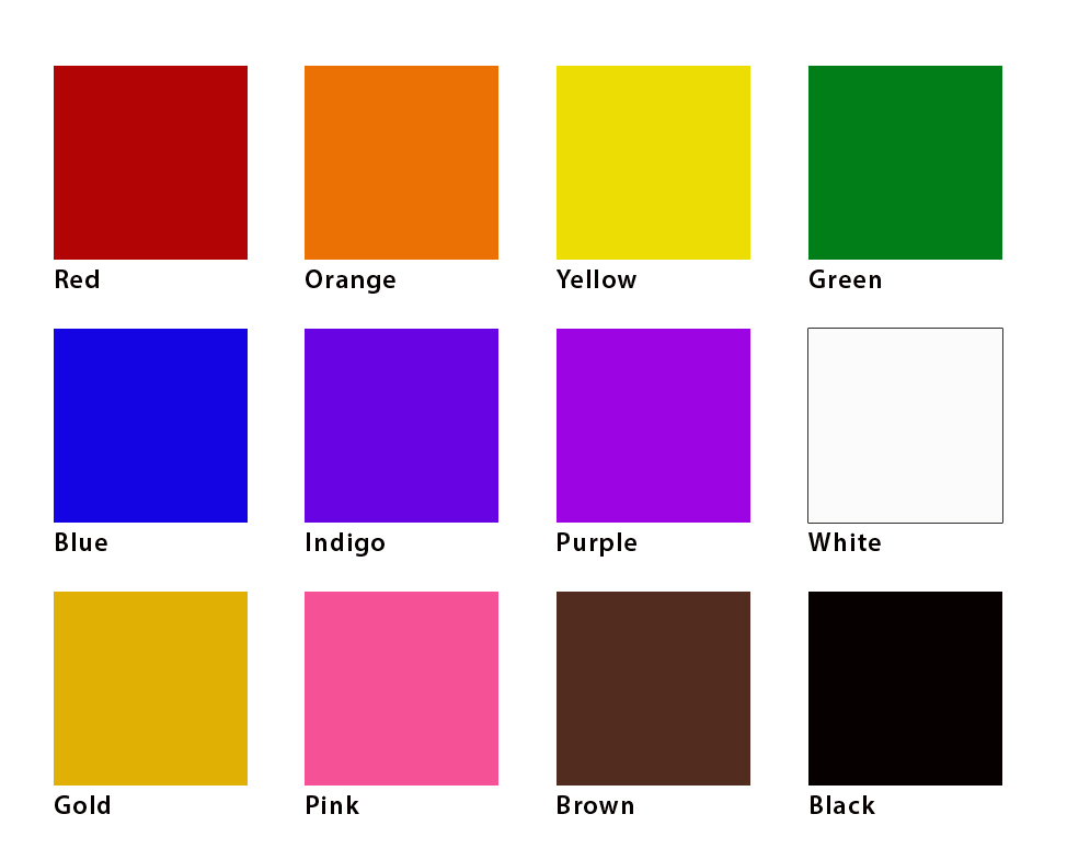12 colors of spiritual energy